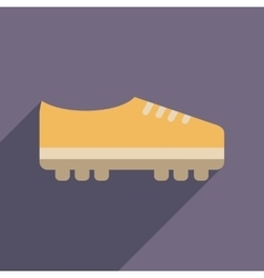 Flat web icon with long shadow soccer shoes vector