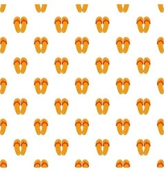 Flips flops pattern cartoon style vector