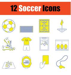Football icon set vector