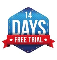 Fourteen days free trial vector