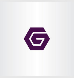 g logo sign hexagon symbol icon vector image
