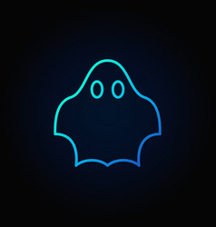 Ghost blue icon vector
