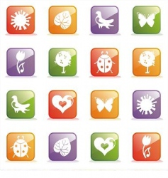 glossy icon set for web vector image