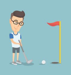 golfer hitting a ball vector image