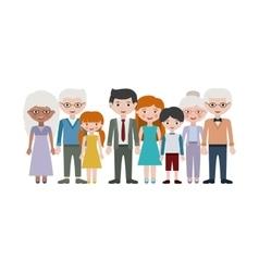 Grandparents parents and kids cartoons design vector
