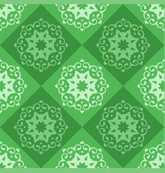 Green seamless abstract ornament pattern vector
