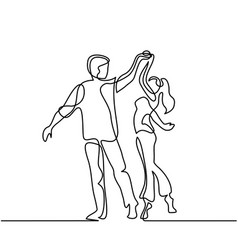 happy loving couple dancing vector image