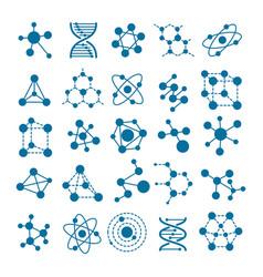 hormone or molecule icons vector image