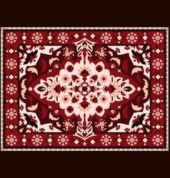 Indian rug persian textile carpet design royal vector