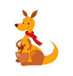kangaroo funny alphabet animal vector image