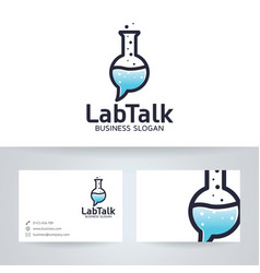 lab talk logo design vector image