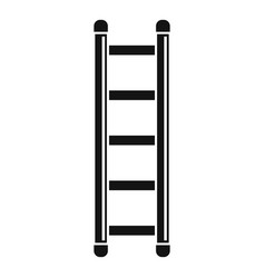 Ladder icon simple style vector