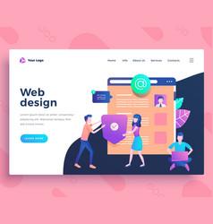 landing page template web design development vector image