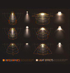 Light effects infographics vector