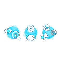 like clapping hands and user info icons set vector image