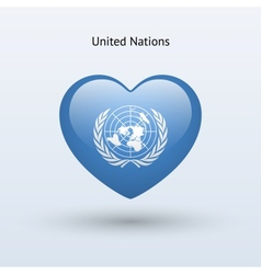 Love United Nations symbol Heart flag icon vector image