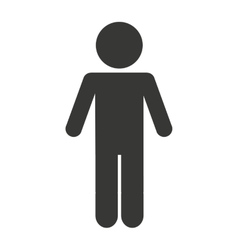 man male silhouette isolated icon vector image