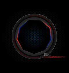 Metal black circle with light scene vector