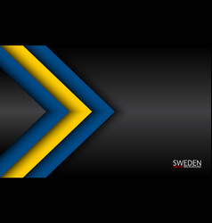 Modern overlayed arrows with swedish colors and vector