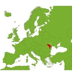 Moldova map vector