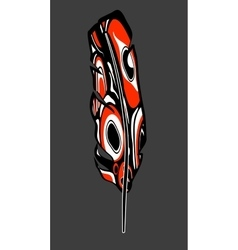 native american feather vector image