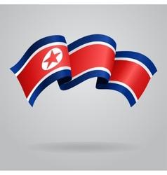 North Korean waving Flag vector