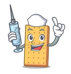 Nurse graham cookies character cartoon vector