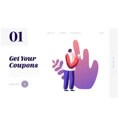 online shopping order web application website vector image