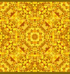 Orange seamless kaleidoscope pattern background vector