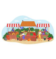 Organic food farm market vector