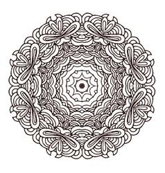 ornament hand drawn mandala template vector image