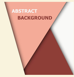 Paper overlap layer for text and background design vector