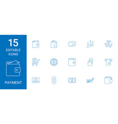 payment icons vector image