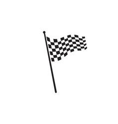 race flag icon simple design logo vector image
