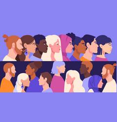 Racial diversity concept vector