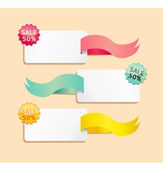 ribbon soft color sale tag vector image