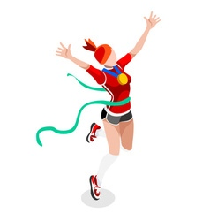 Running Winning Woman 2016 Sports 3D vector