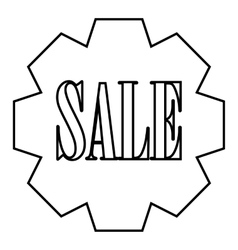 Sale banner icon outline style vector