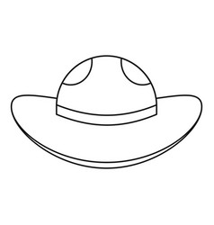 Sea hat icon outline style vector