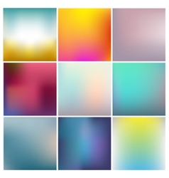 set of abstract vector image