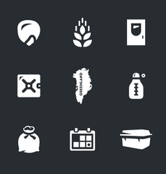 Set of arctic seed storage icons vector