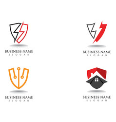 Shield guard logo design shield vector