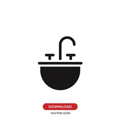 Sink icon vector