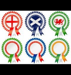 Six nations rosettes vector