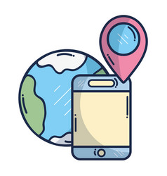 smartphone gps tracking vector image