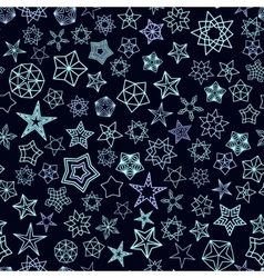 Stars pattern from silver starry elements vector