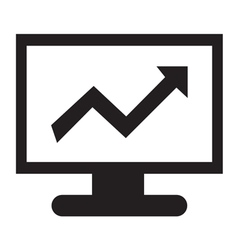 Stock Charts Icon vector image