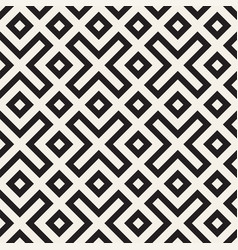Stylish lines lattice ethnic monochrome texture vector