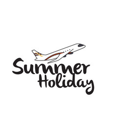 summer holiday flying plane background imag vector image