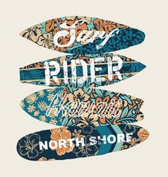 surf rider north shore hawaii vector image